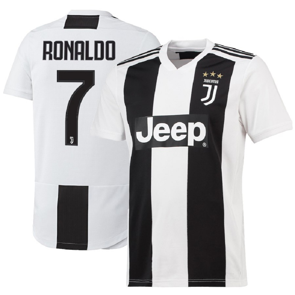 Majestic Athletic Men's Cristiano Ronaldo #7 Juventus 201819 Jersey-White