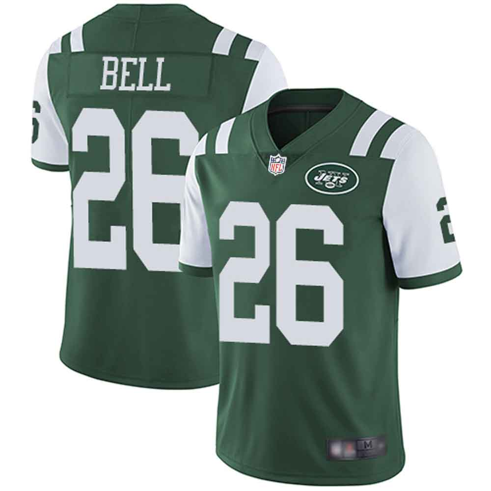 Men's New York Jets #26 Le'Veon Bell Green Limited Home Jersey