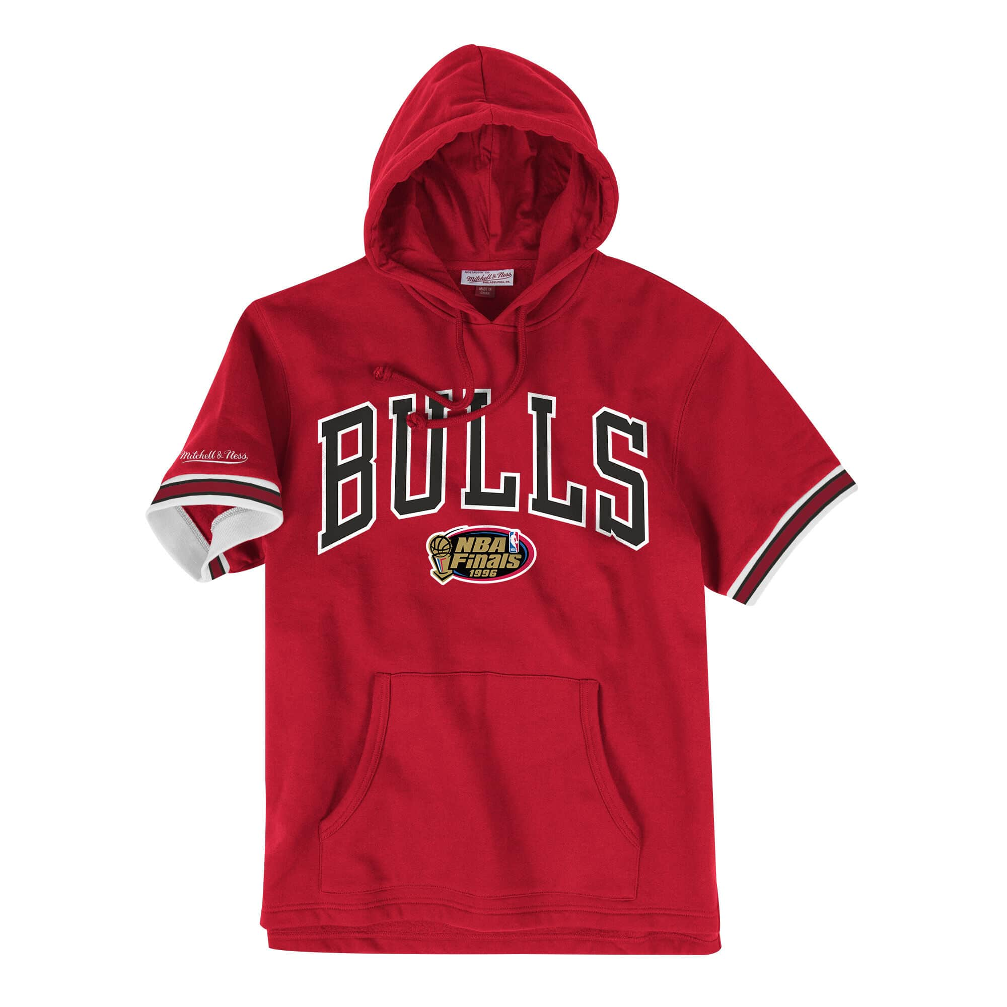 French Terry Short Sleeve Hoody Chicago Bulls
