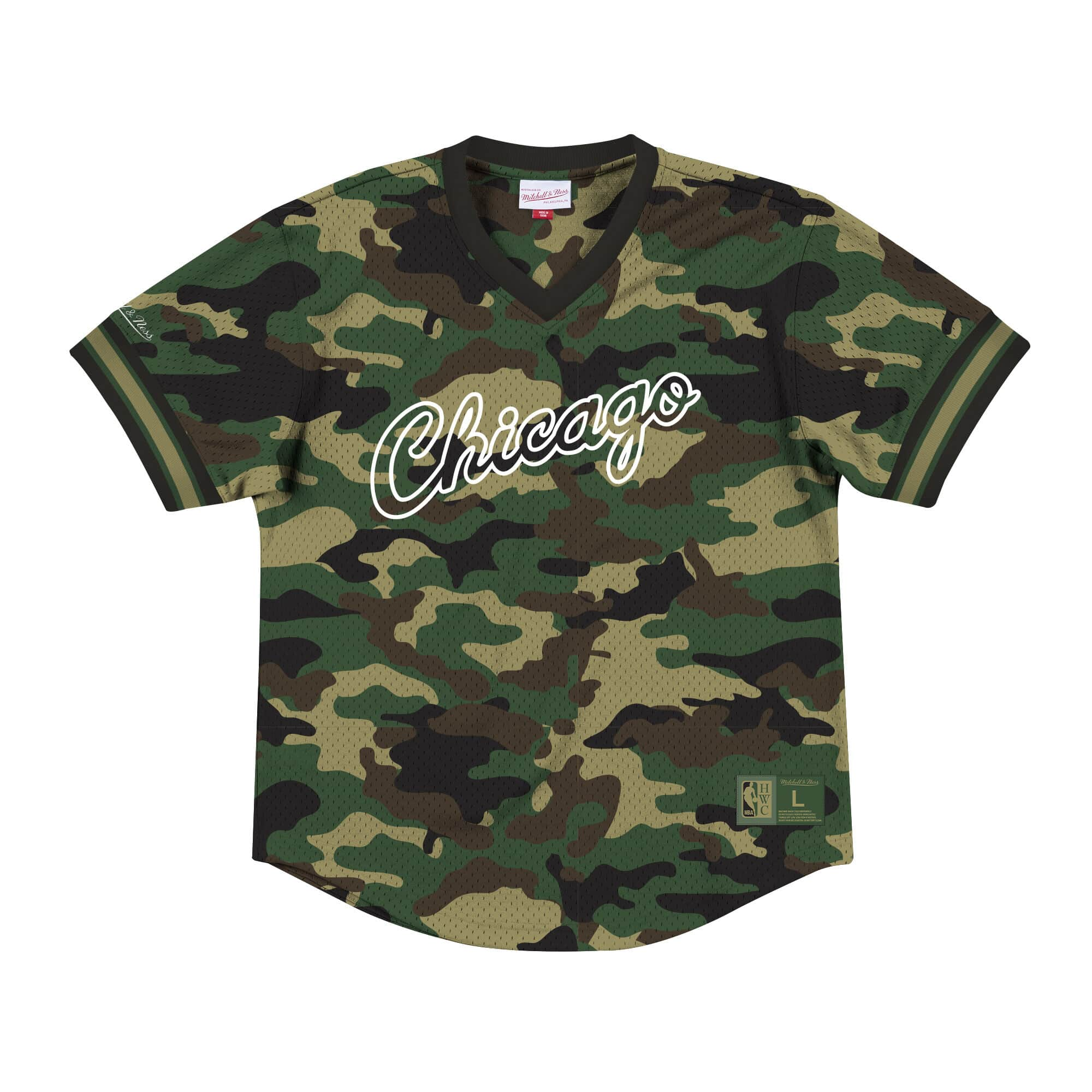 Camo Mesh V-Neck Chicago Bulls