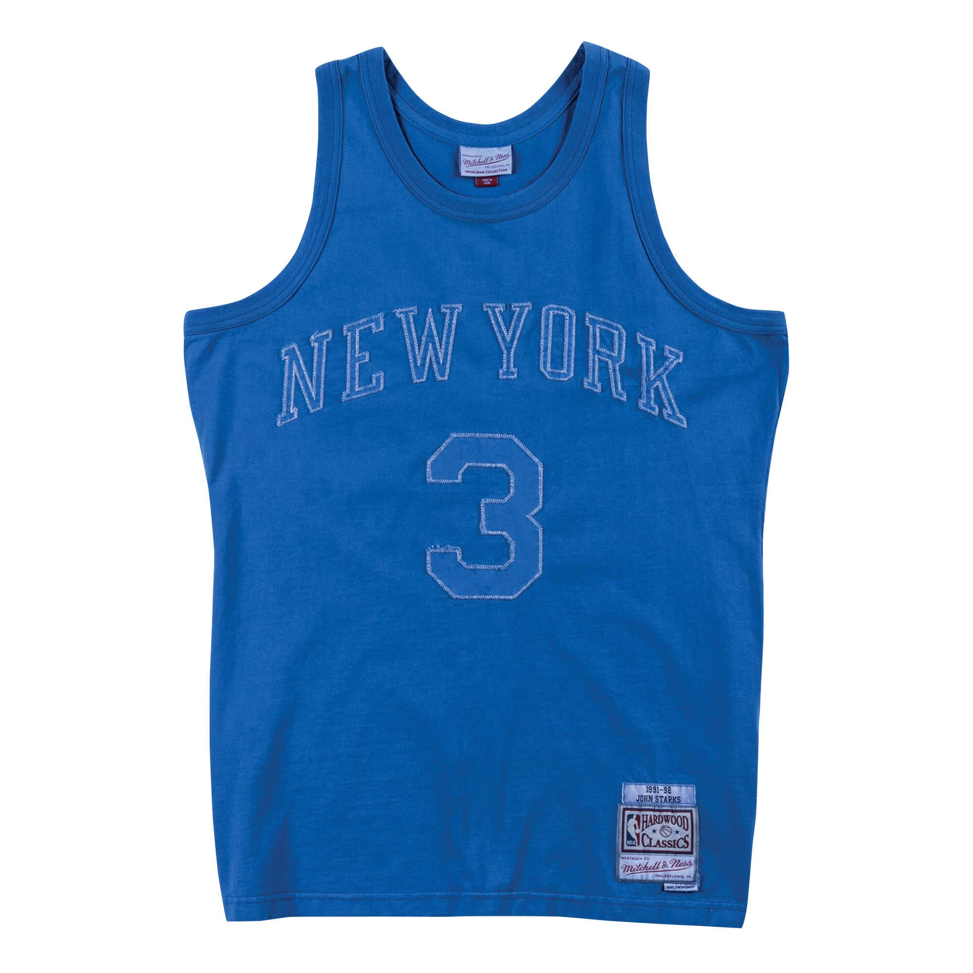 Washed Out Swingman Jersey New York Knicks 1991-92 John Starks