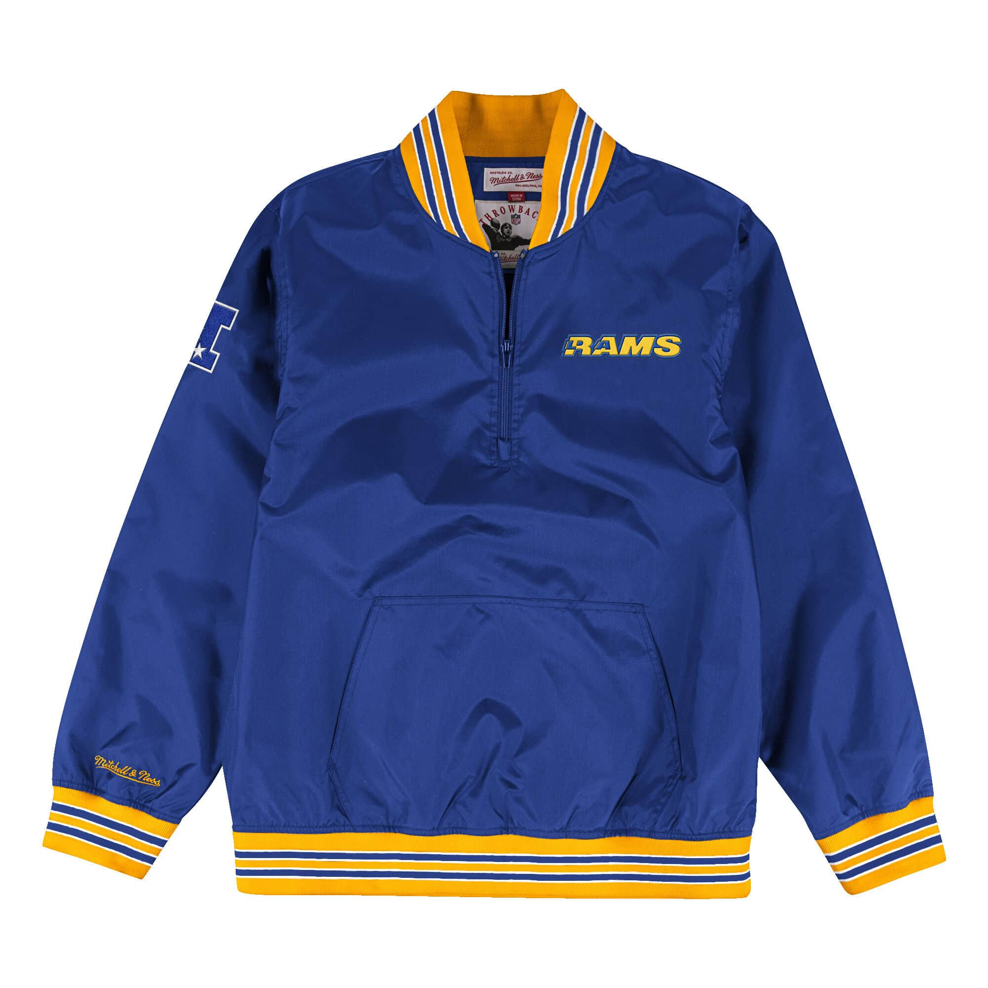 1/4 Zip Nylon Pullover Los Angeles Rams