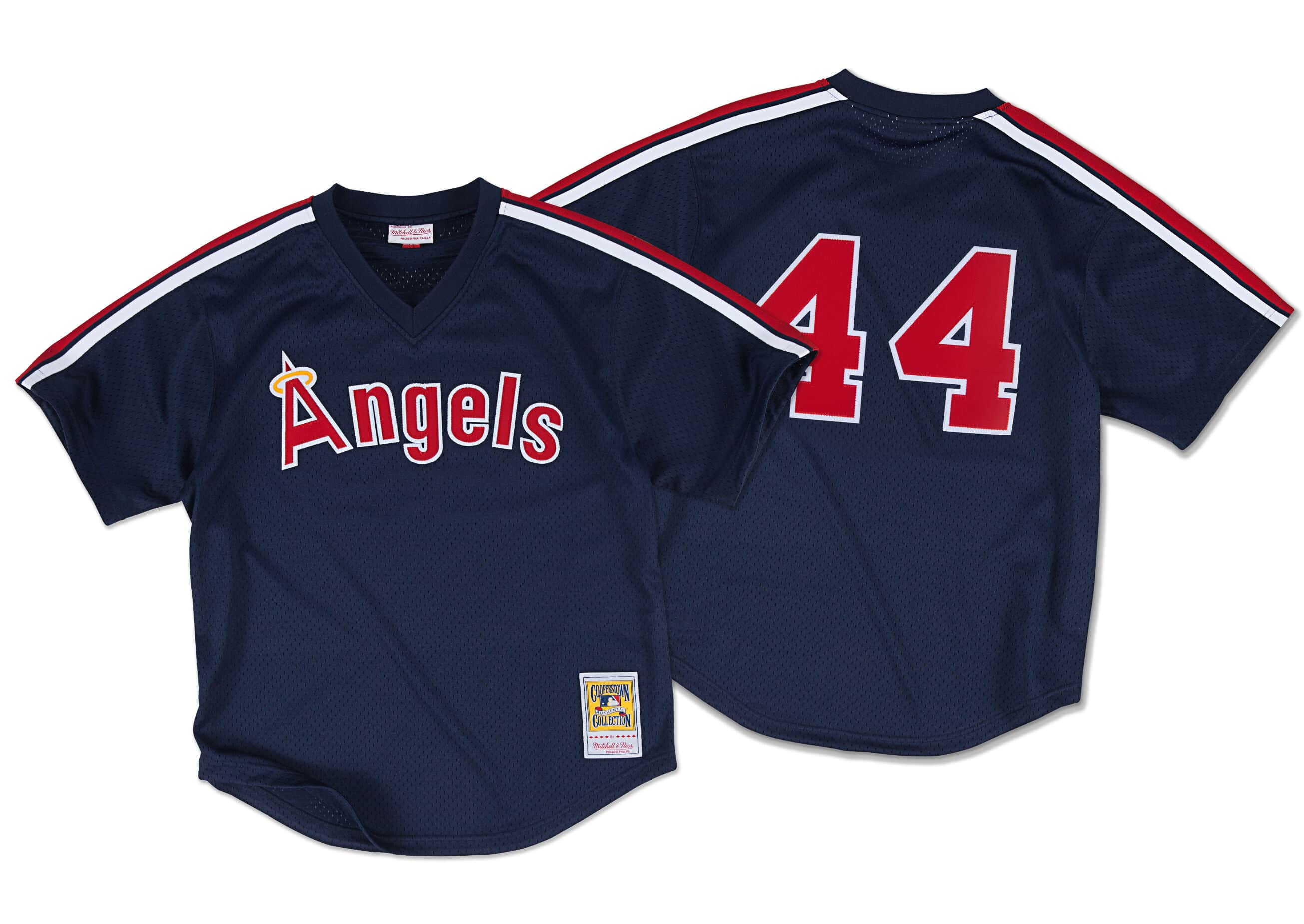 Reggie Jackson 1984 Authentic Mesh BP Jersey California Angels