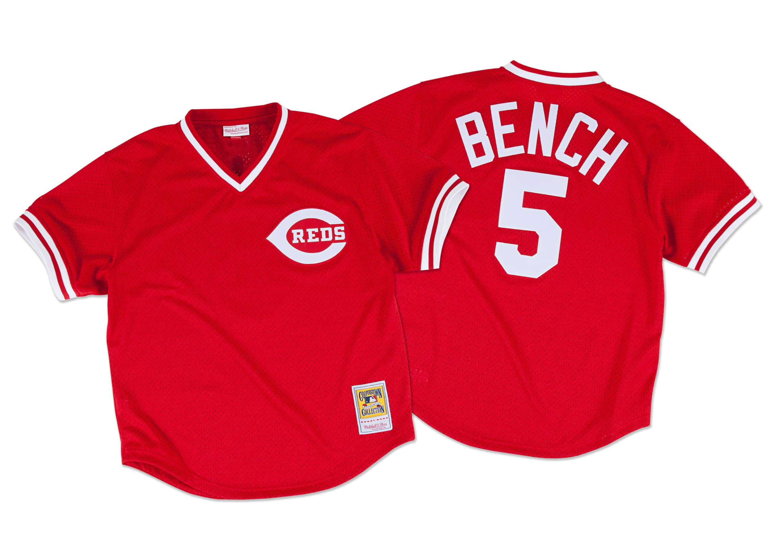 Johnny Bench 1983 Authentic Mesh BP Jersey Cincinnati Reds