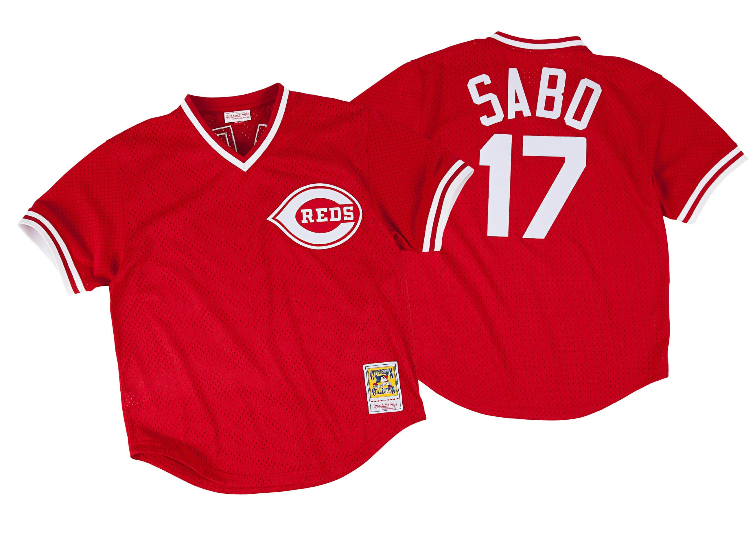 Chris Sabo 1990 Authentic Mesh BP Jersey Cincinnati Reds