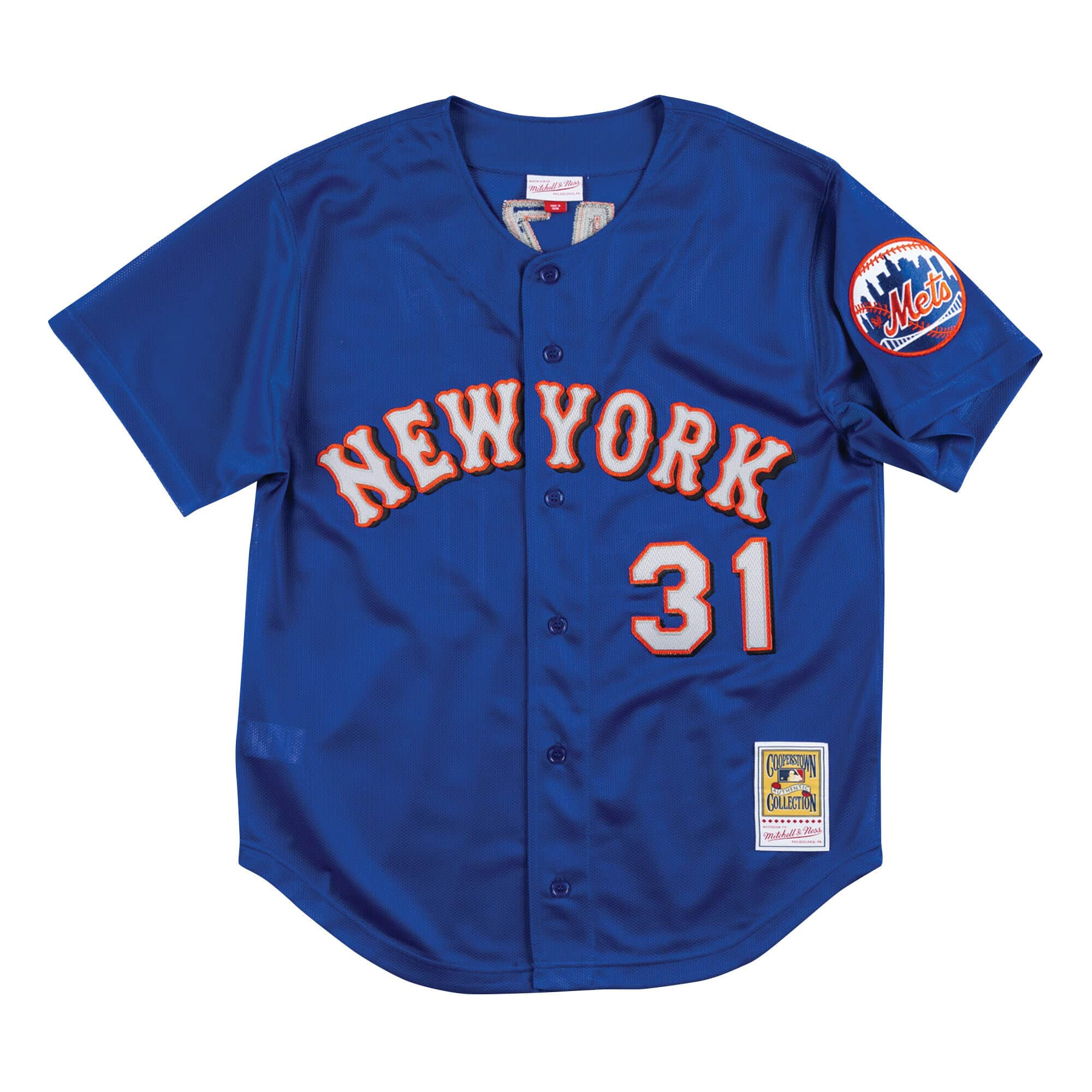 Authentic Mesh BP Jersey New York Mets 1999 Mike Piazza