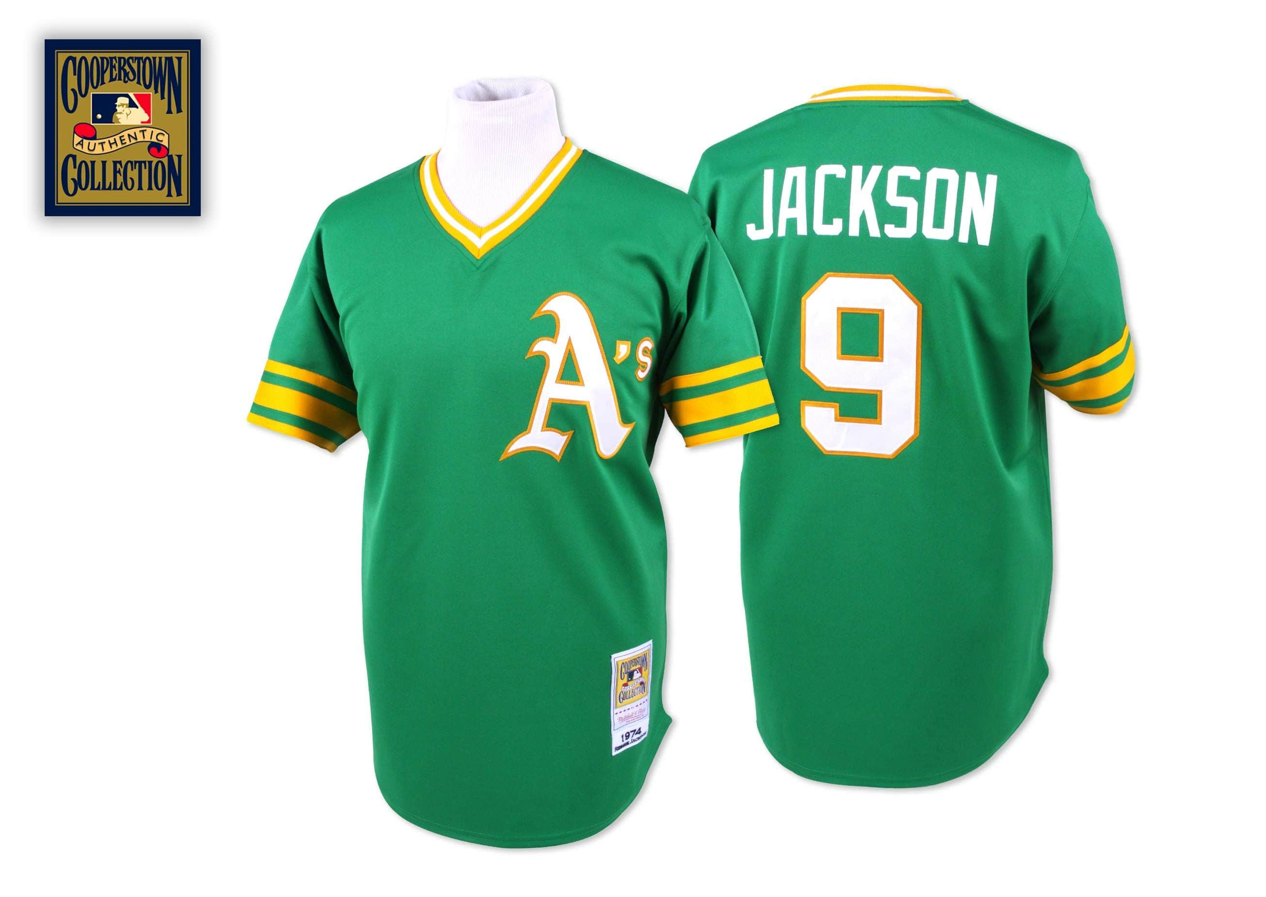 Reggie Jackson 1974 Authentic Jersey Oakland Athletic's