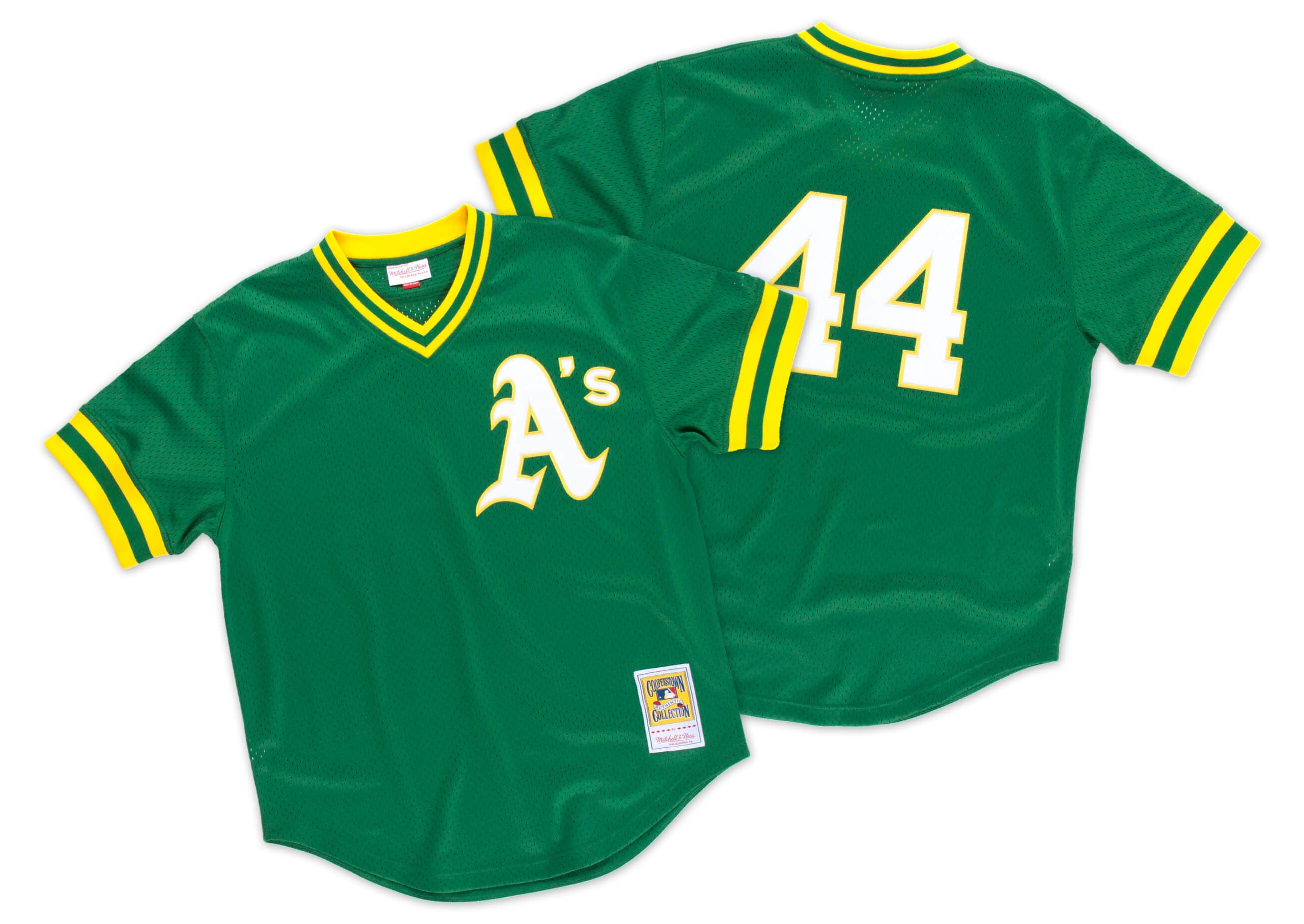 Reggie Jackson 1987 Authentic Mesh BP Jersey Oakland Athletics