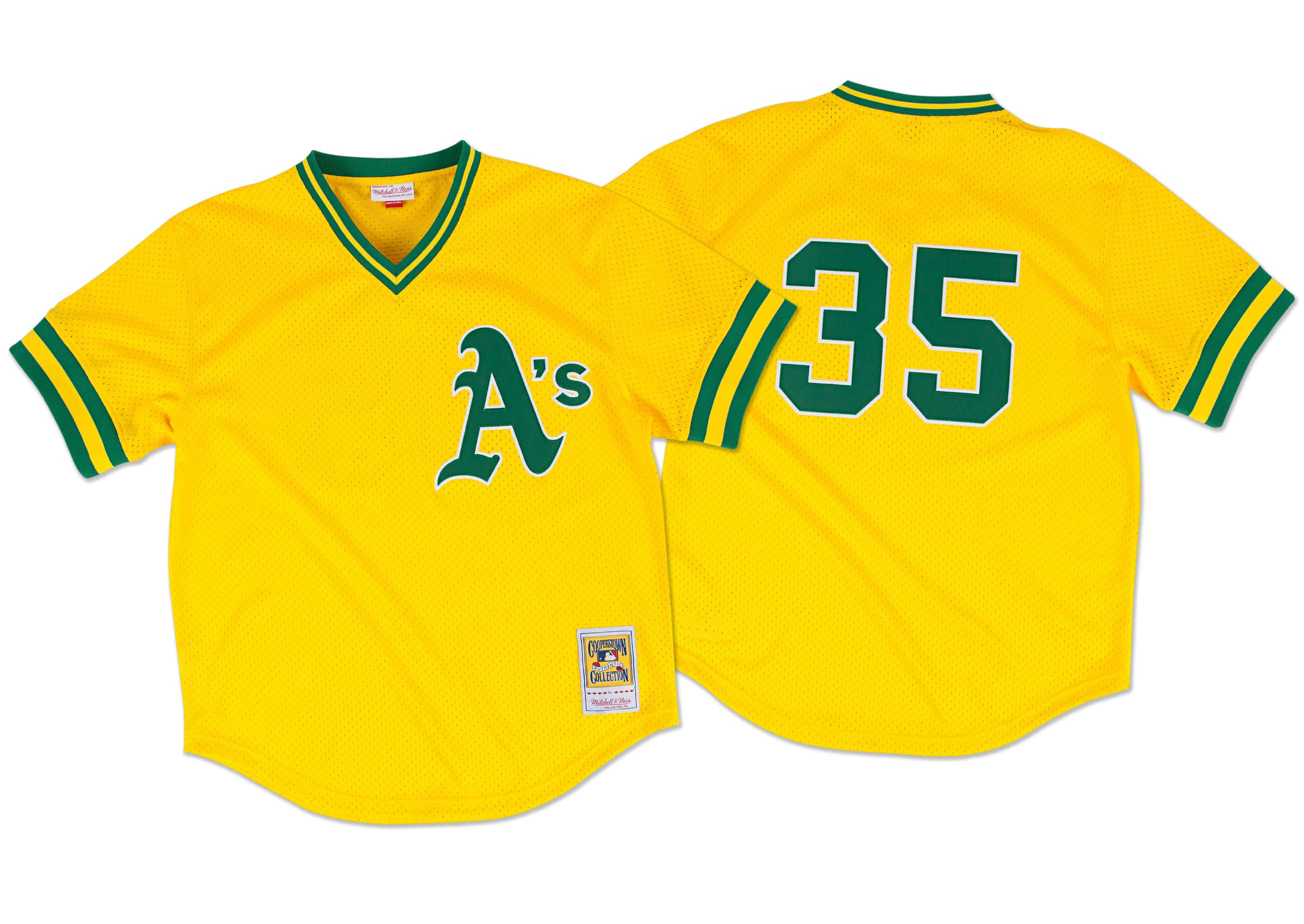 Rickey Henderson 1984 Authentic Mesh BP Jersey Oakland Athletics