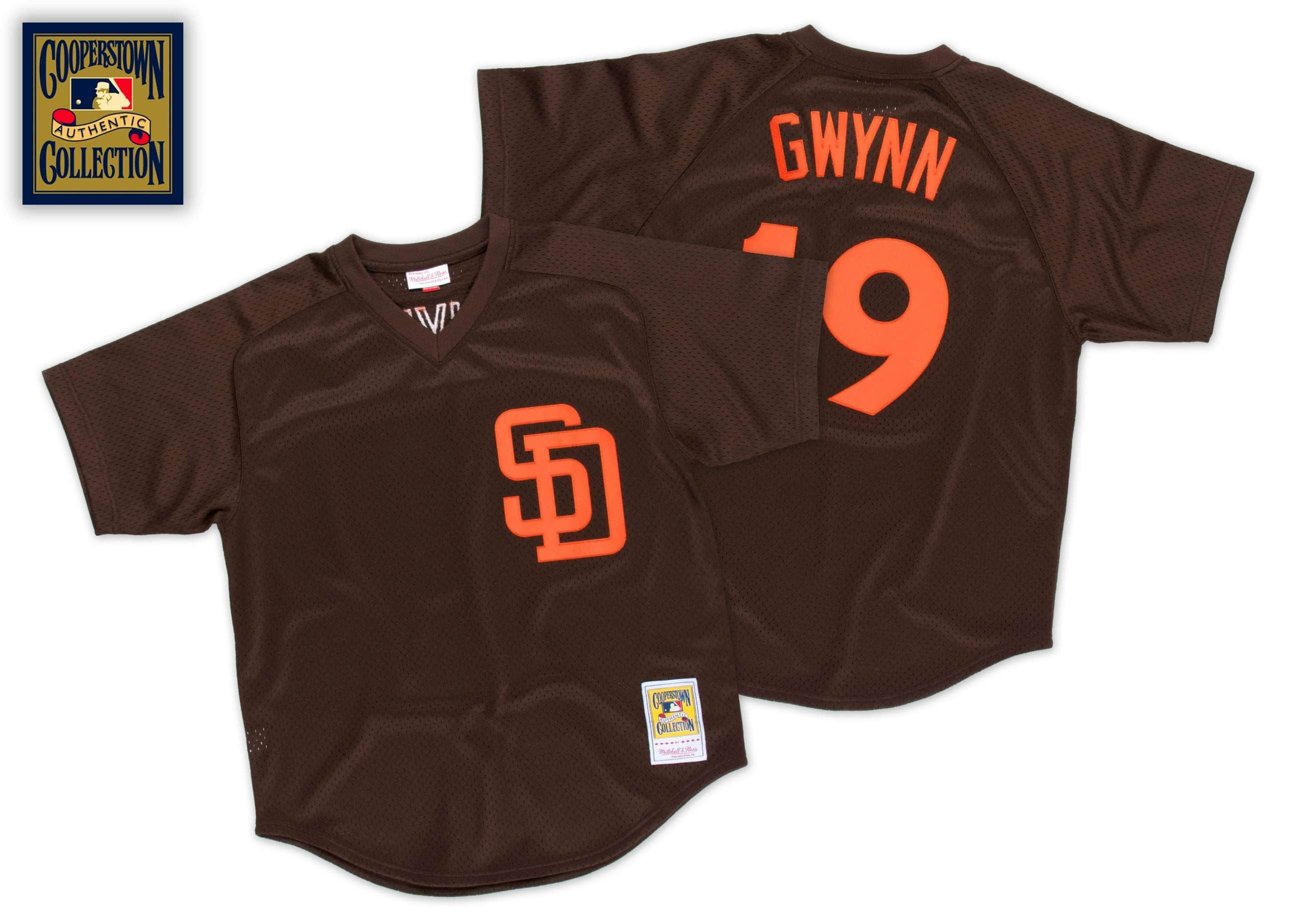 Tony Gwynn 1985 Authentic Mesh BP Jersey San Diego Padres