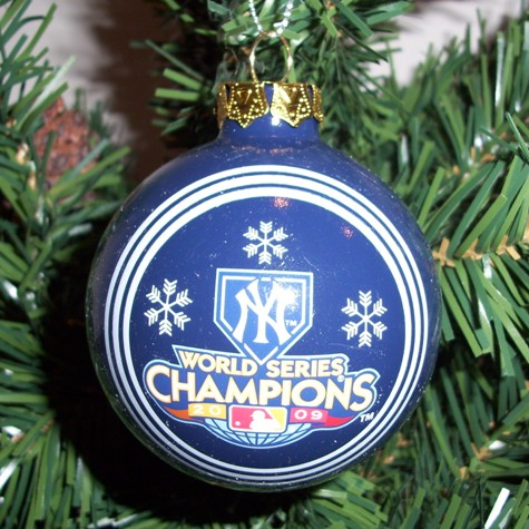 New York Yankees 2009 World Series Champions Traditional Ornament