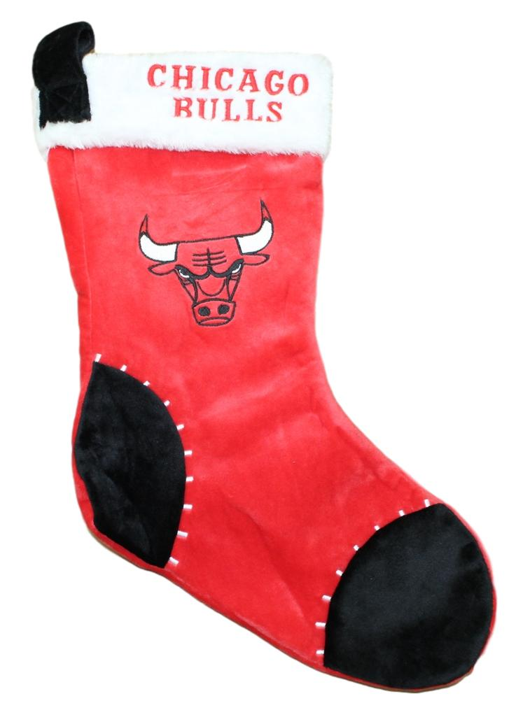 Chicago Bulls 2017 NBA Basic Logo Plush Christmas Stocking