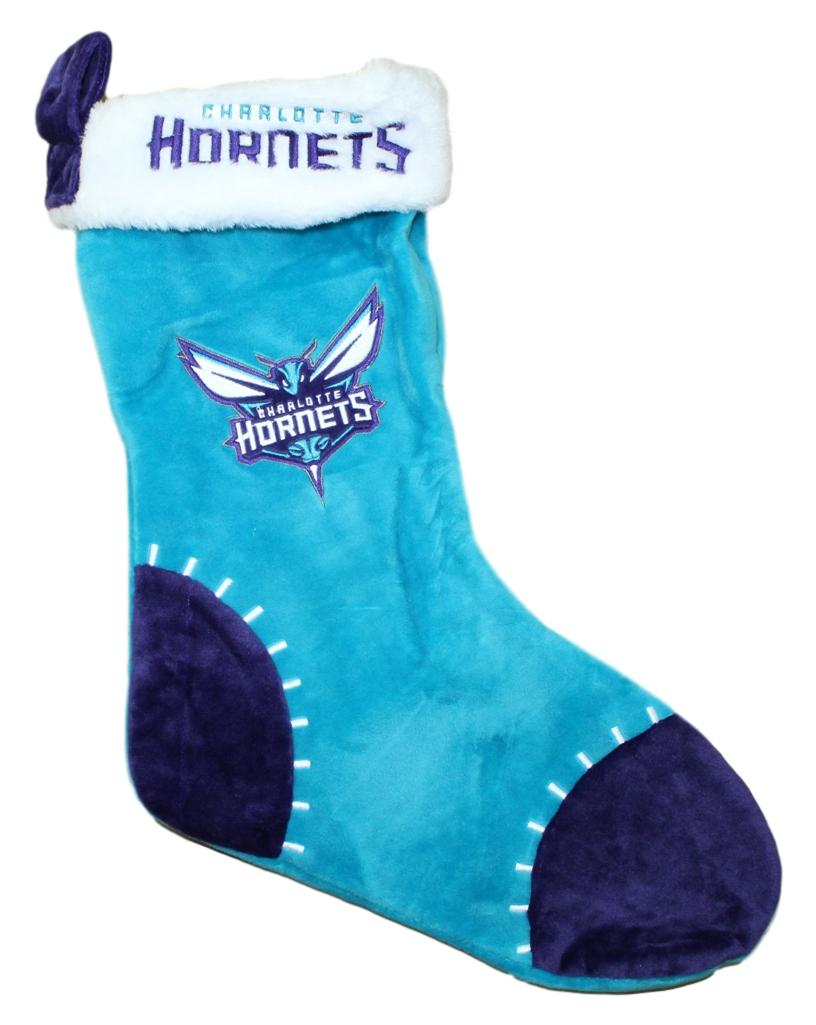 Charlotte Hornets 2017 NBA Basic Logo Plush Christmas Stocking
