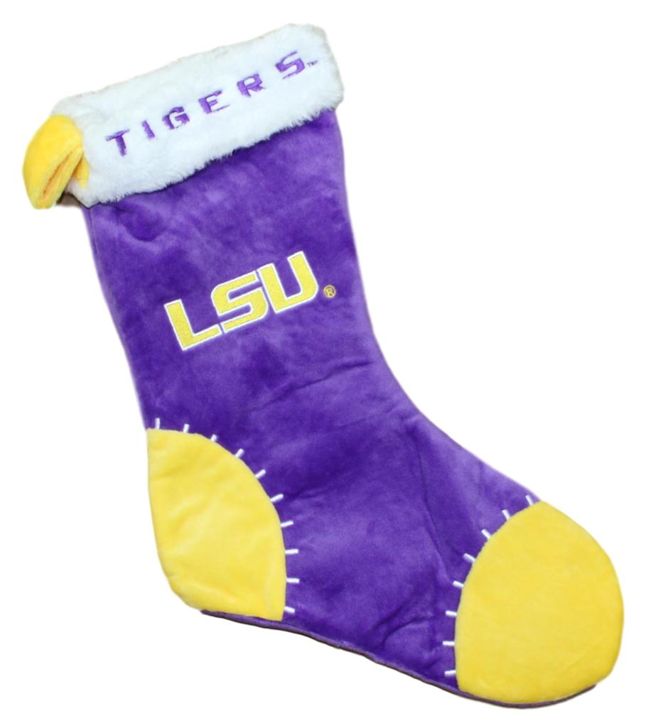 LSU Tigers 2017 NCAA Basic Logo Plush Christmas Stocking