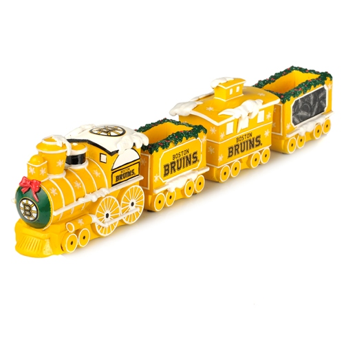 Boston Bruins NHL Resin Decorative Holiday Train Set