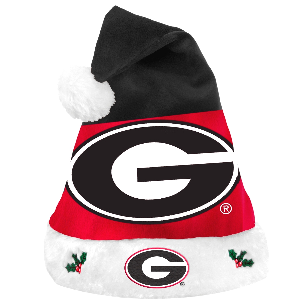 Georgia Bulldogs 2018 NCAA Basic Logo Plush Christmas Santa Hat