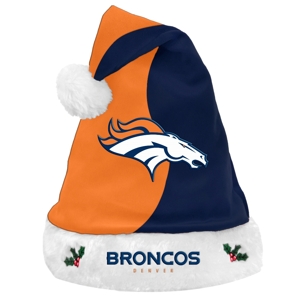 Denver Broncos 2017 NFL Basic Logo Plush Christmas Santa Hat