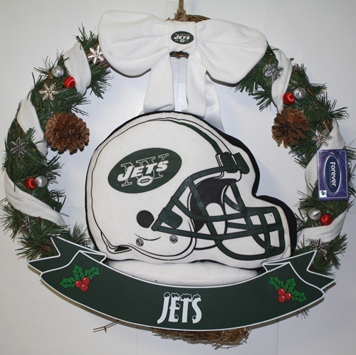 "New York Jets 20"" Helmet Door Wreath"