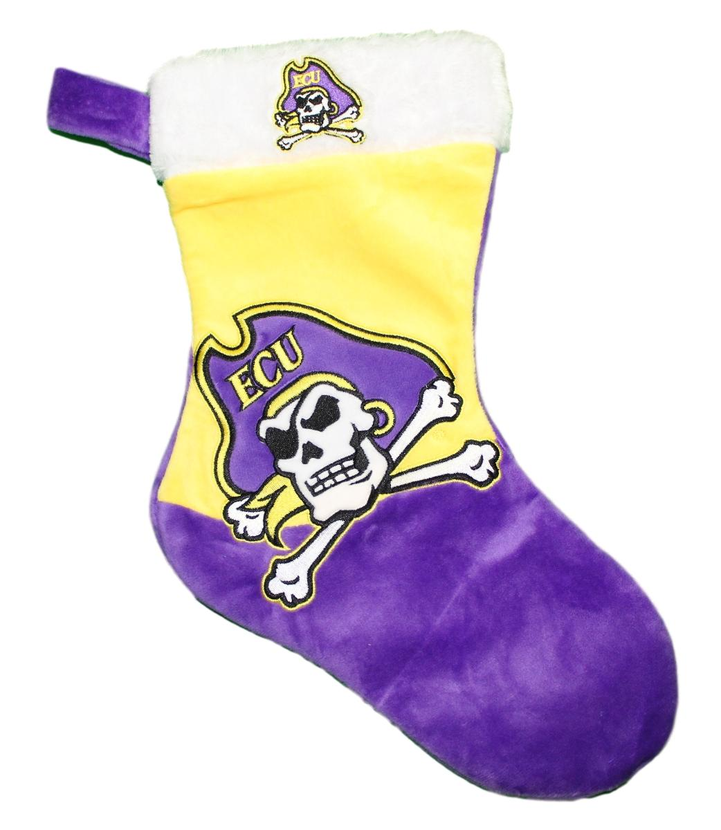 East Carolina Pirates 2018 NCAA Basic Logo Plush Christmas Stocking