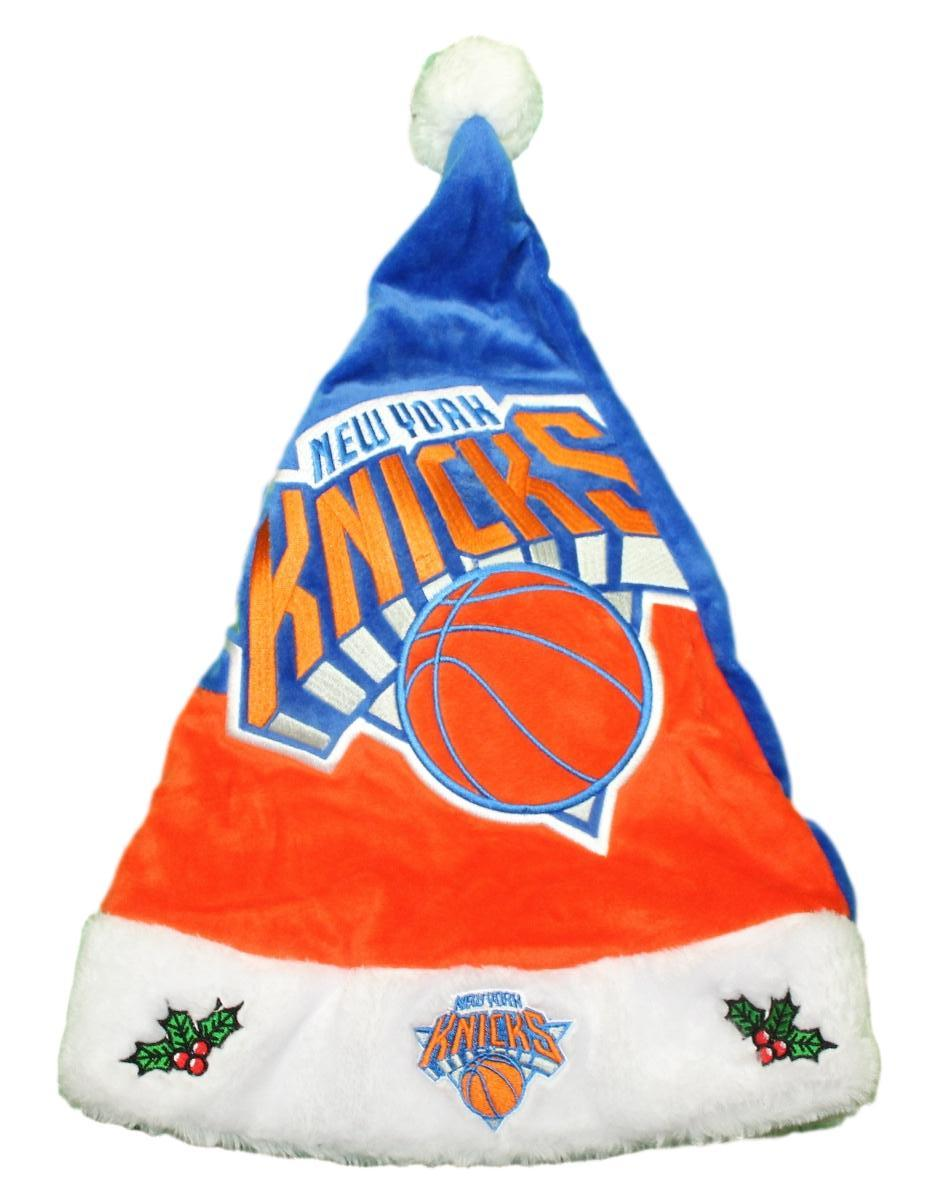 New York Knicks 2018 NBA Basic Logo Plush Christmas Santa Hat