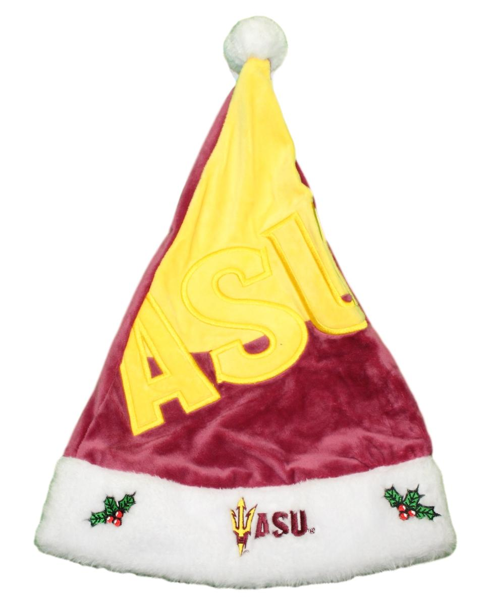 Arizona State Sun Devils 2018 NCAA Basic Logo Plush Christmas Santa Hat