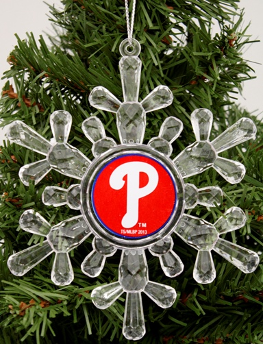 "Philadelphia Phillies MLB Snowflake 4 1/2 "" Ornament"