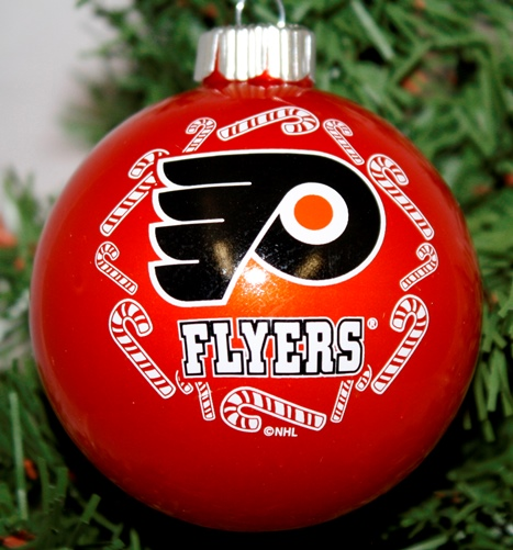 Philadelphia Flyers NHL Traditional Round Glass Ornament