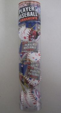 Ryan Howard Phillies MLB Player Baseball Ornaments 4 Pack