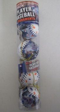 Jose Reyes Mets MLB Player Baseball Ornaments 4 Pack