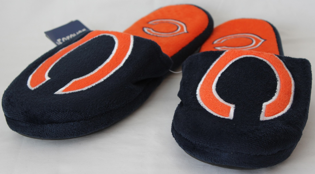 Chicago Bears NFL Men's All Over Logo Slide Slippers