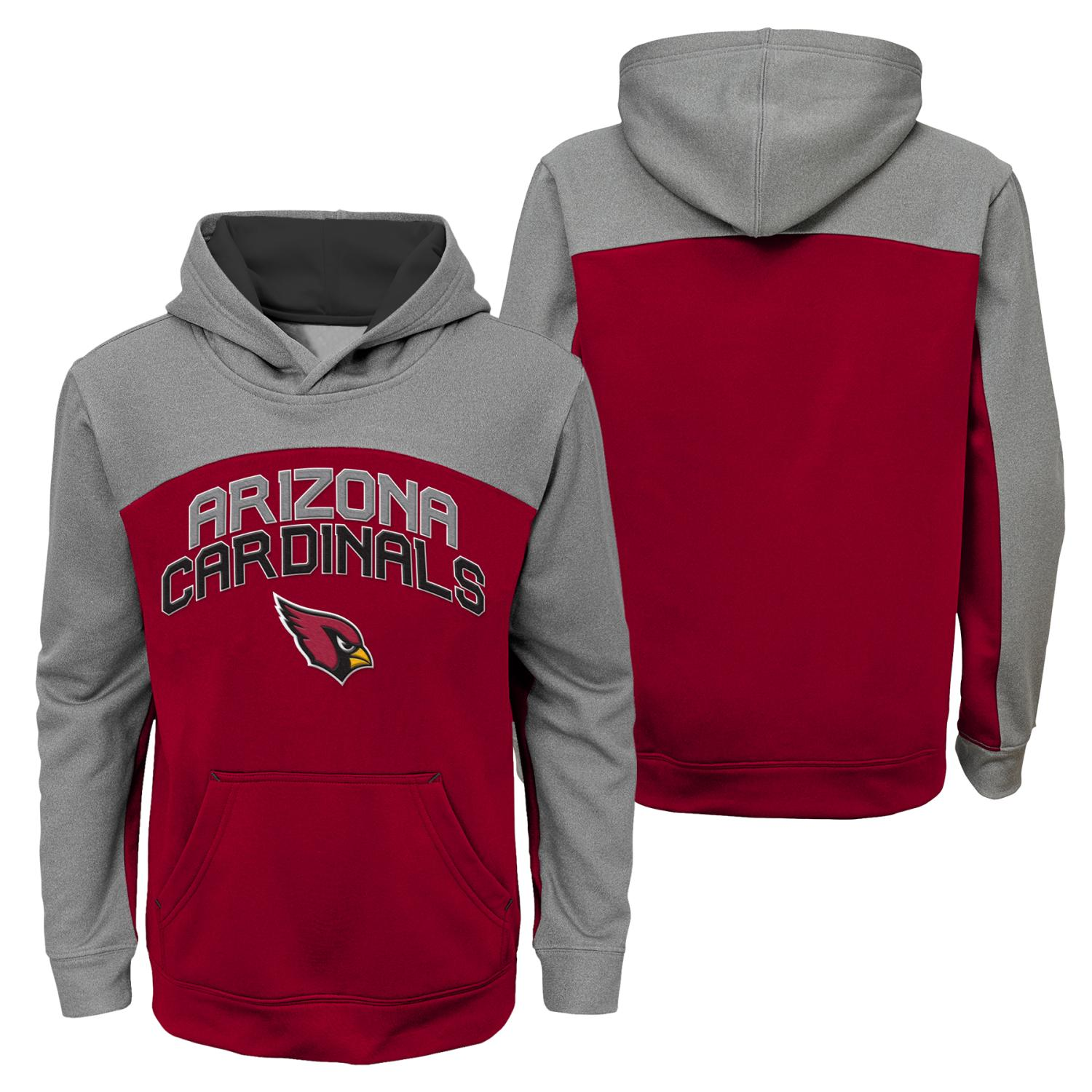 "Arizona Cardinals Youth NFL ""Arc"" Pullover Hooded Sweatshirt"