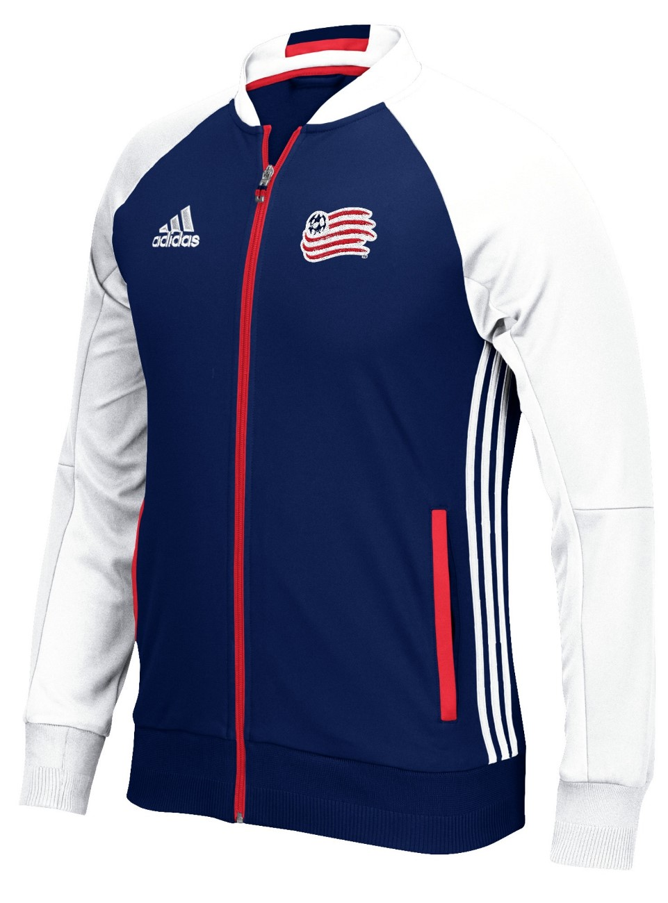 "New England Revolution Adidas MLS ""Anthem"" Men's Sideline Full Zip Jacket"