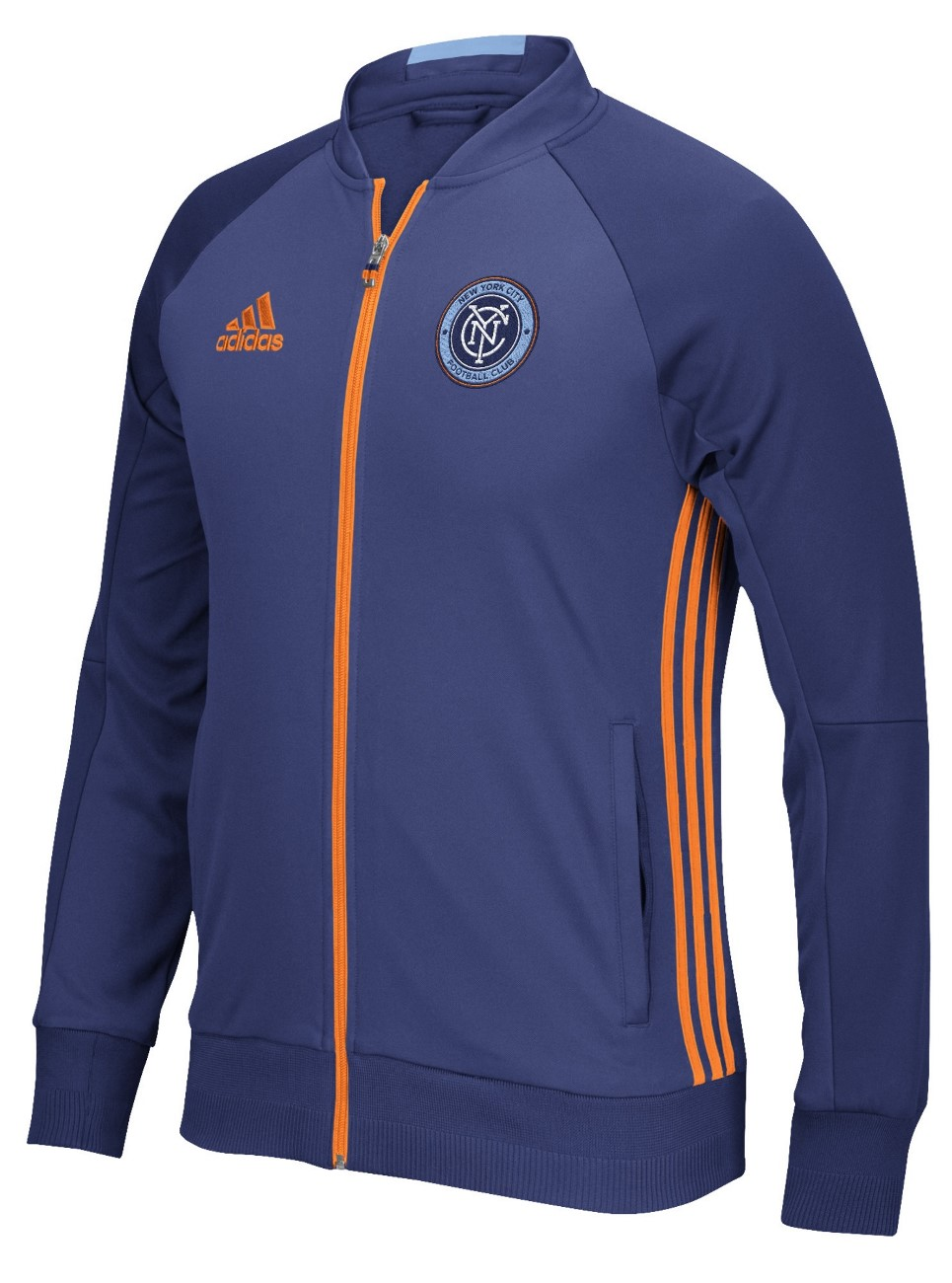 "New York City FC Adidas MLS ""Anthem"" Men's Sideline Full Zip Jacket"