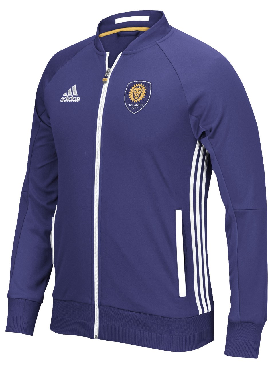 "Orlando City SC Adidas MLS ""Anthem"" Men's Sideline Full Zip Jacket"