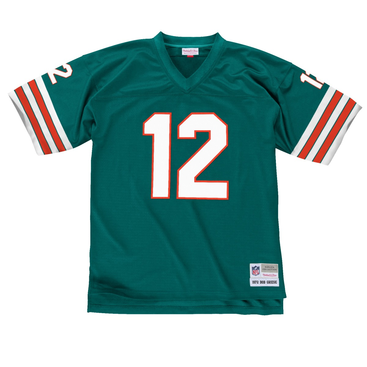 Bob Griese Miami Dolphins Men's NFL Mitchell & Ness Premier Aqua Jersey