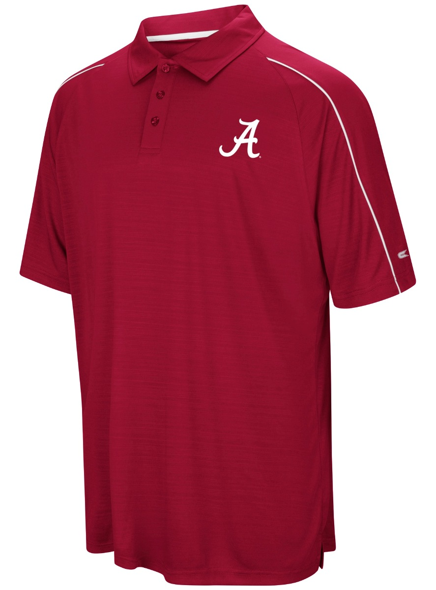 "Alabama Crimson Tide NCAA ""Setter"" Men's Performance Polo Shirt"