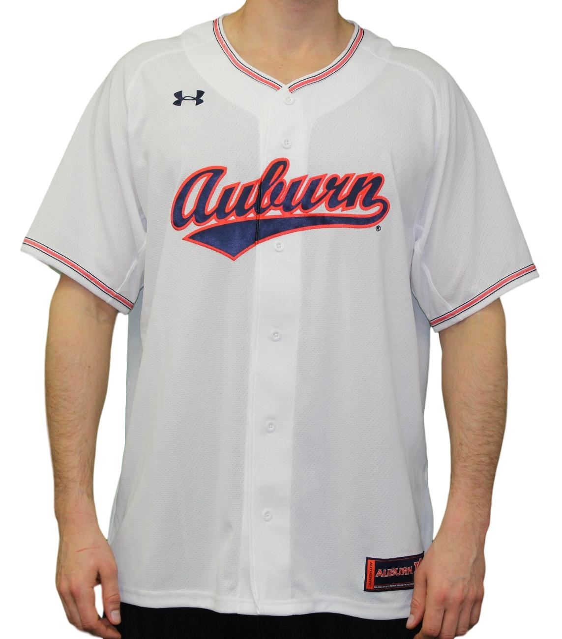 Auburn Tigers Under Armour NCAA Men's Baseball Jersey - White