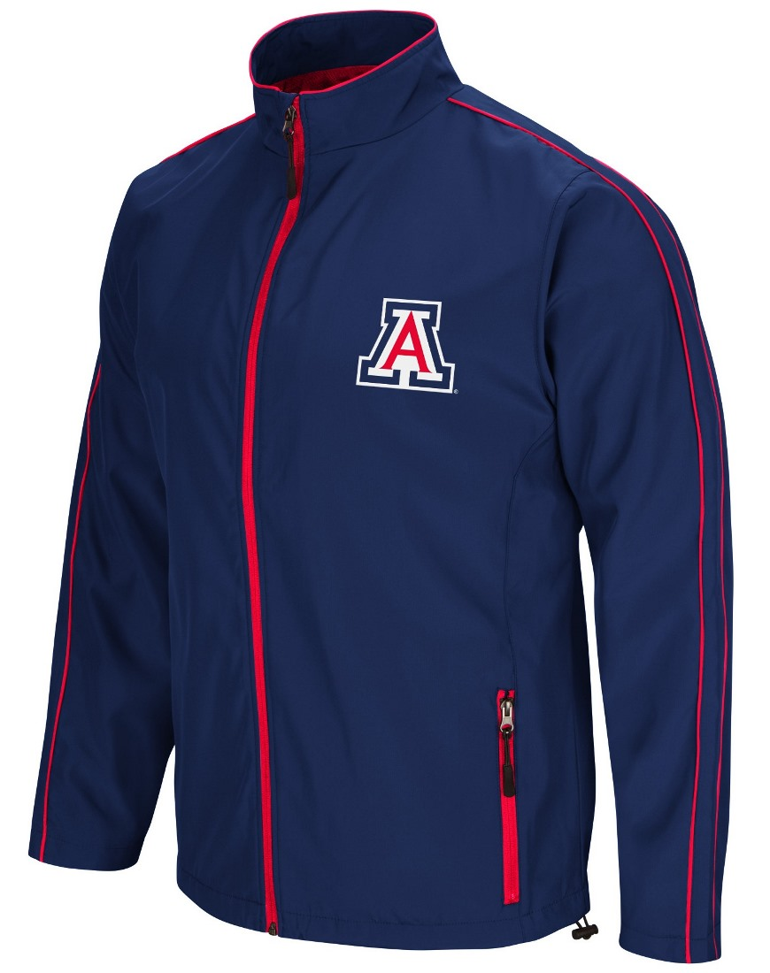 "Arizona Wildcats NCAA ""Barrier"" Men's Full Zip Wind Jacket"