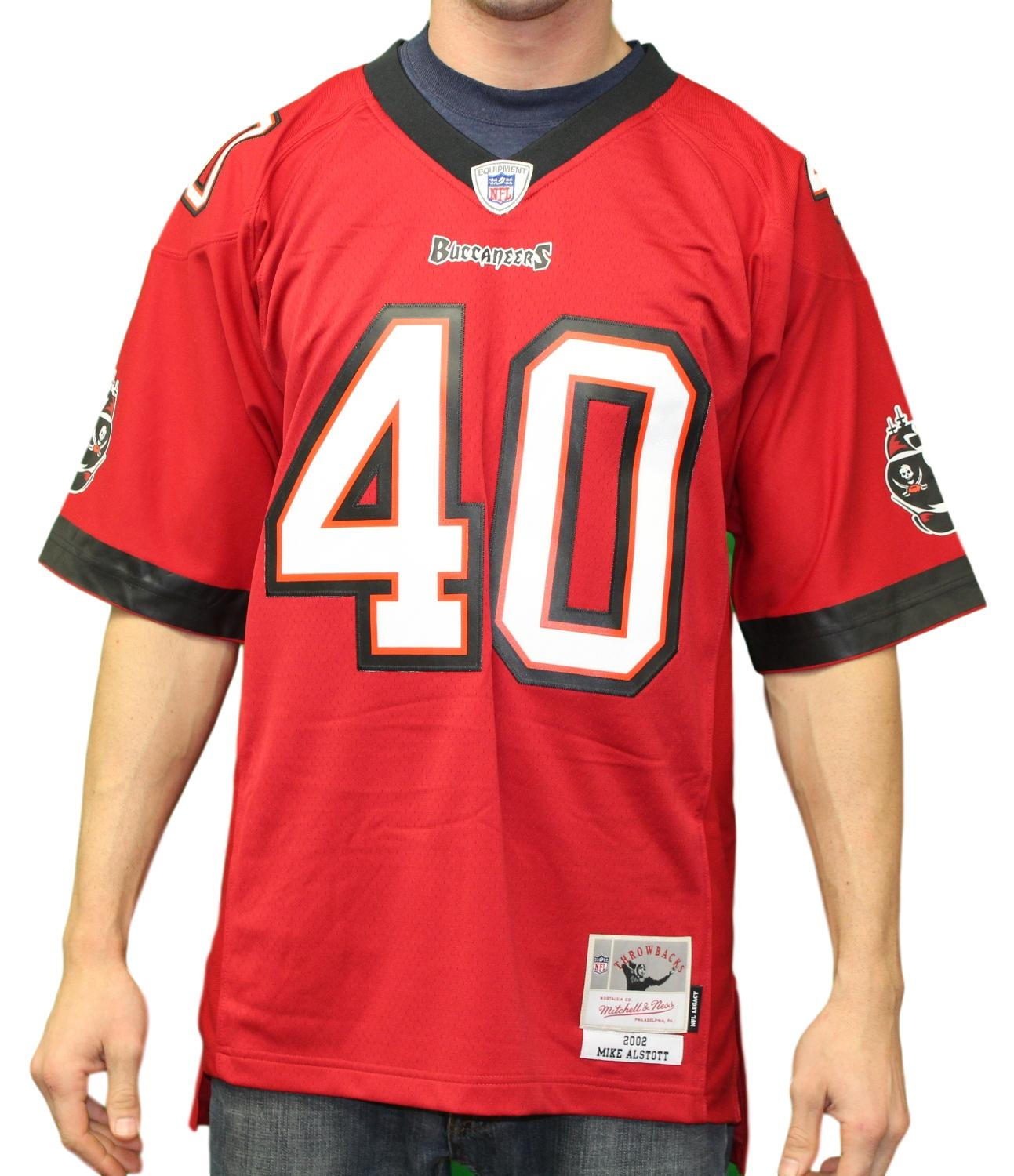 Mike Alstott Tampa Bay Buccaneers Mitchell & Ness 2002 Throwback Premier Jersey