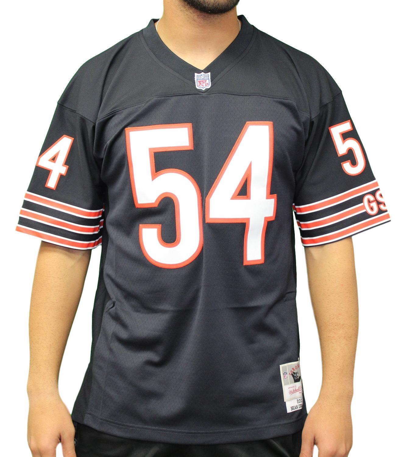 Brian Urlacher Chicago Bears NFL Mitchell & Ness 2001 Throwback Premier Jersey
