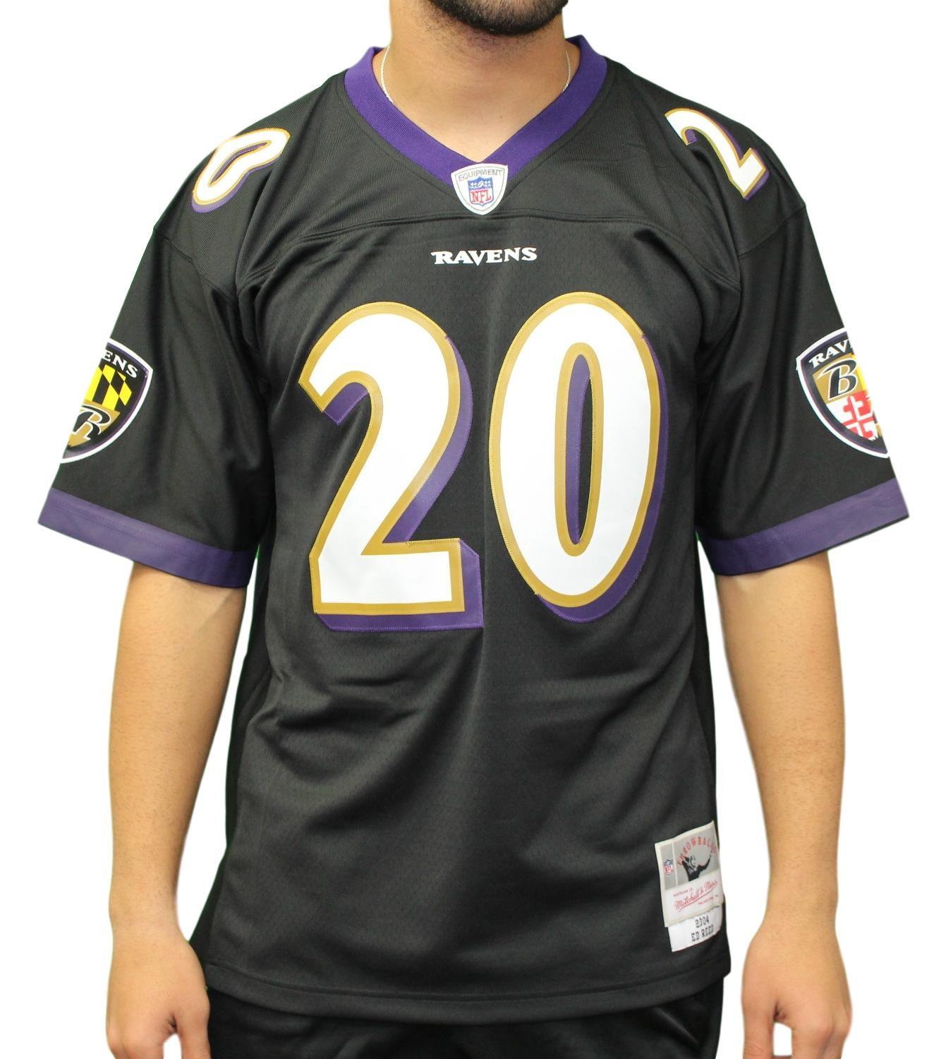 Ed Reed Baltimore Ravens NFL Mitchell & Ness 2004 Throwback Premier Jersey
