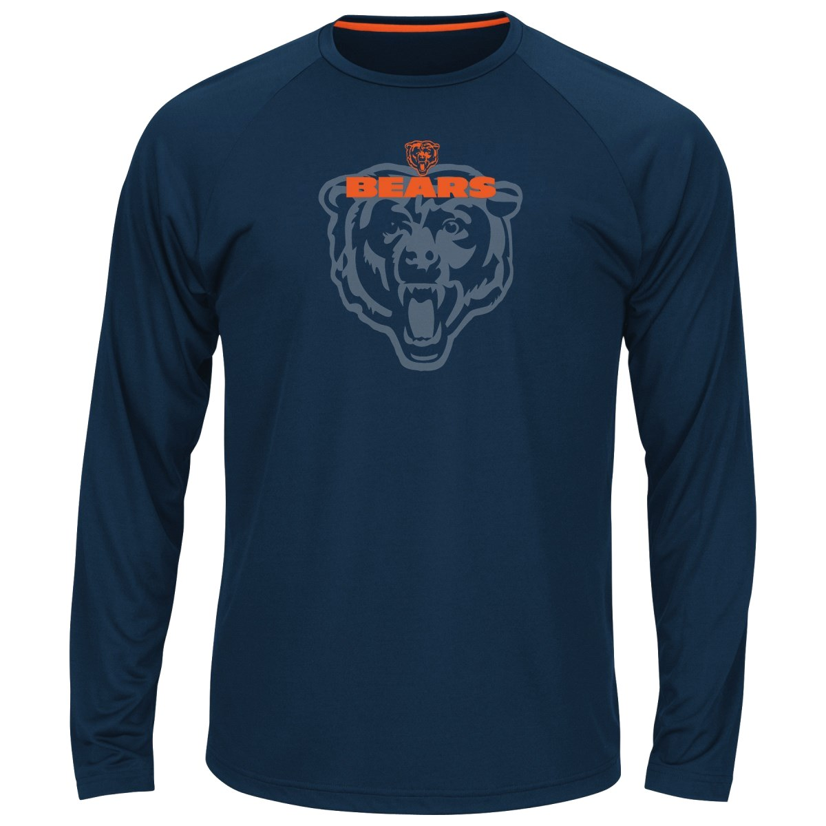 "Chicago Bears Majestic NFL ""Swift Pass"" Men's Cool Base L/S Shirt - Navy"