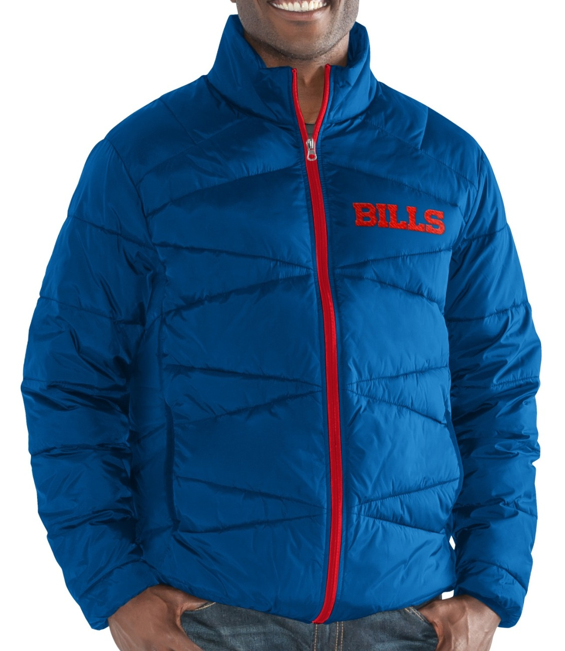 "Buffalo Bills Men's NFL G-III ""Blitz"" F/Zip Packable Quilted Jacket with Bag"
