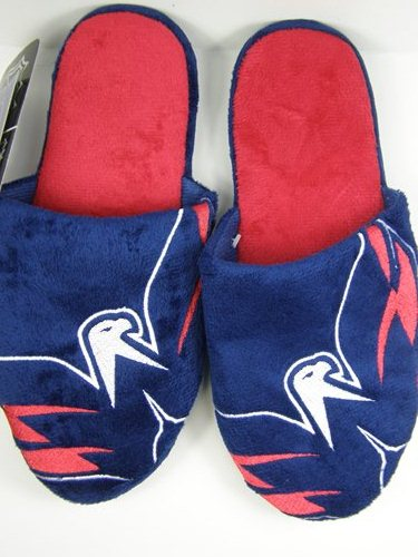 Washington Capitals NHL 2011 Big Logo Two Tone Hard Sole Slippers