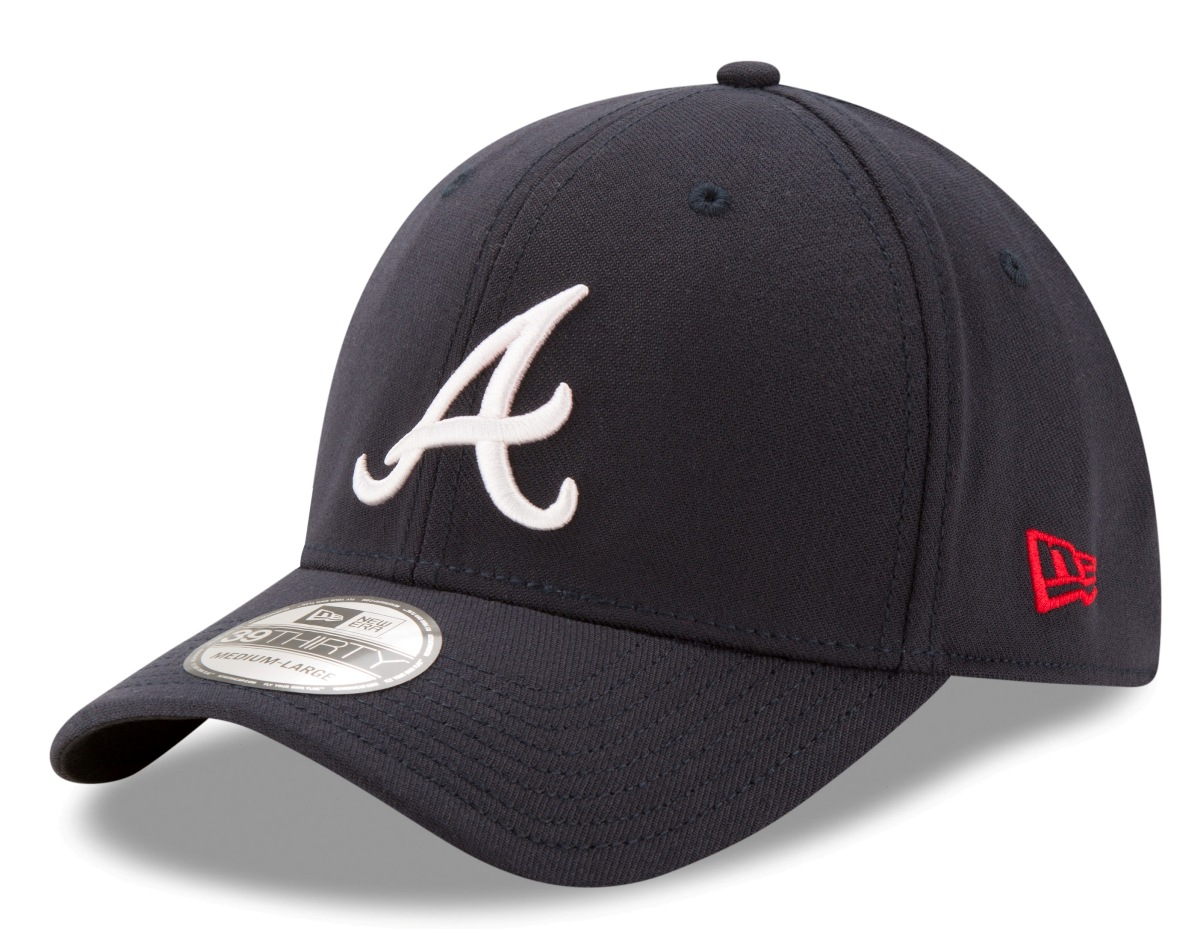 Atlanta Braves New Era MLB 39THIRTY Team Classic Flex Fit Hat - Road