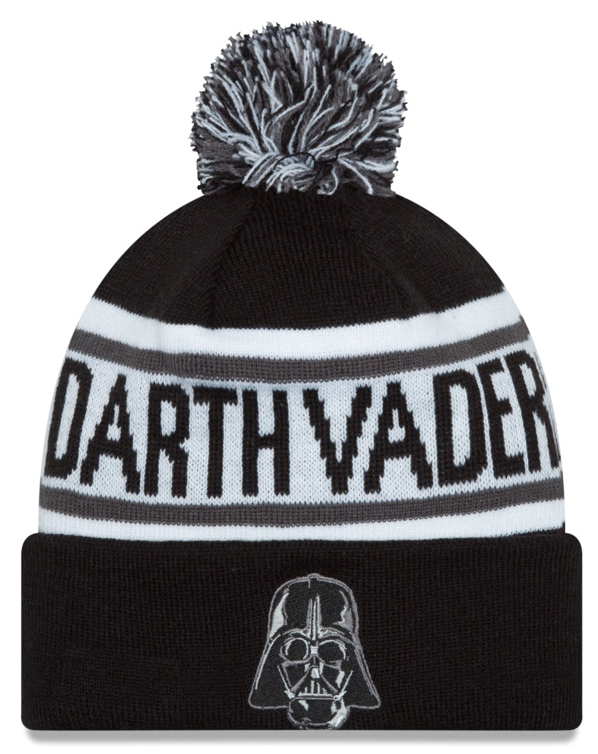 "Darth Vader Star Wars New Era ""Biggest Fan Redux"" Cuffed Knit Hat with Pom"