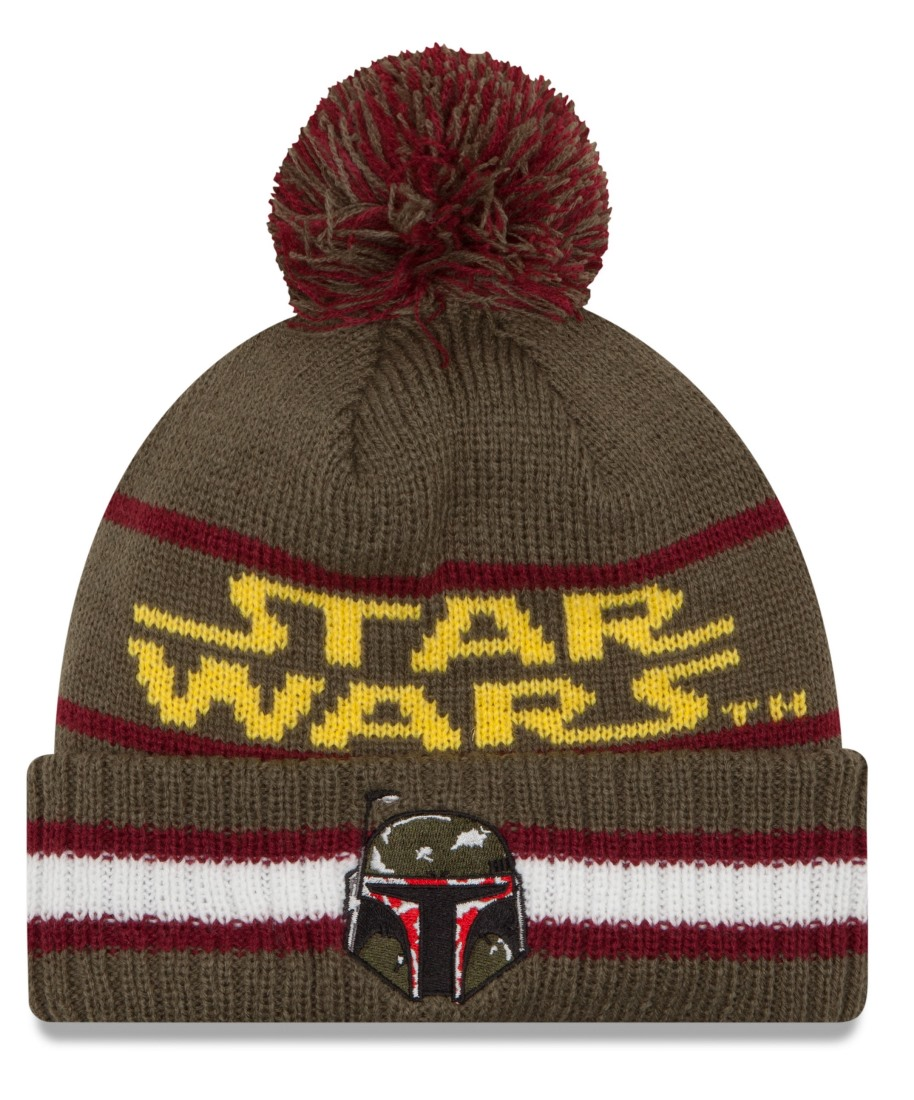 "Boba Fett Star Wars New Era ""Vintage Select"" Cuffed Knit Hat with Pom"