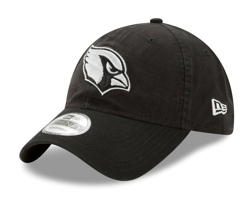 "Arizona Cardinals New Era NFL 9Twenty ""Twill Core Classic"" Adjustable Black Hat"