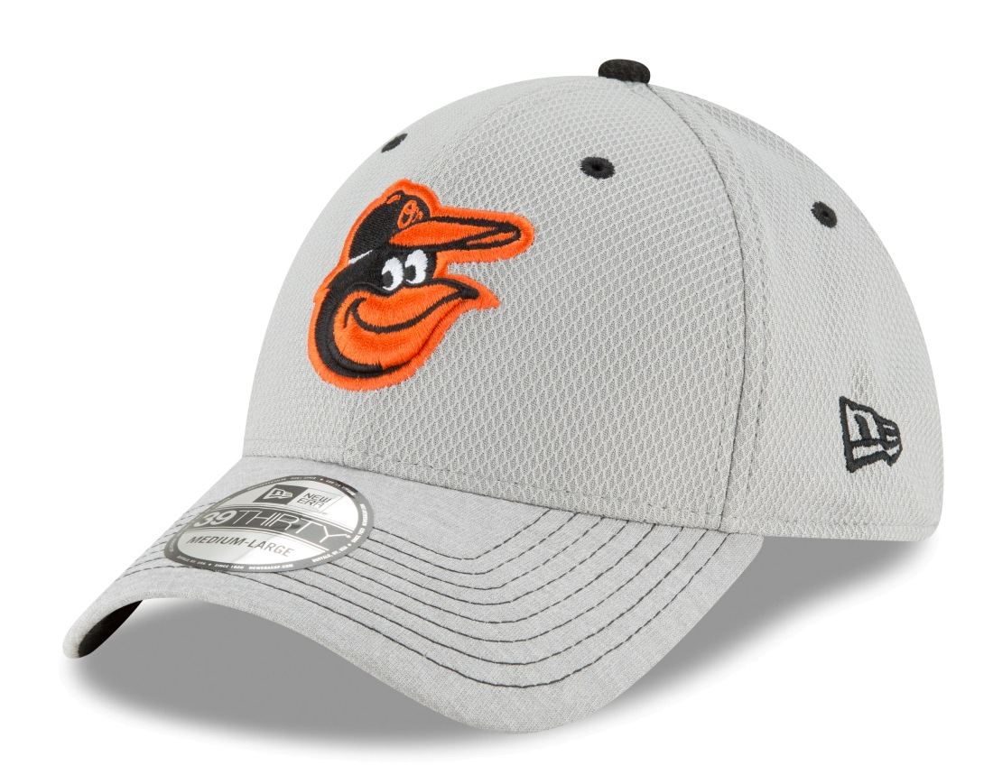 "Baltimore Orioles New Era MLB 39THIRTY ""Vigor Shade"" Flex Fit Hat - Gray"