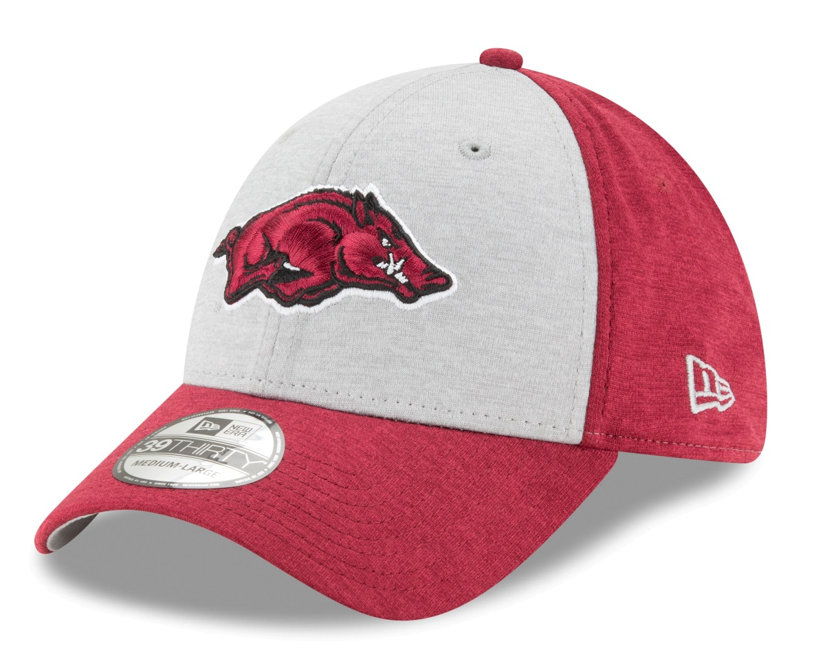 "Arkansas Razorbacks New Era NCAA 39THIRTY ""Shaded Classic"" Flex Fit Hat"
